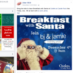 Outlets Facebook Breakfast w Santa 12-4
